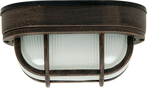 Craftmade Z397-07 Marine Light with Frosted Halophane Glass Shades, Rust (Marine Pro Lighting)