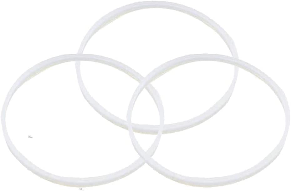 """Sduck 3x Rubber Seal Gaskets Replacement Parts for 3.14"""" Nutri Ninja Kitchen Systems BL770A BL771 BL773 BL780 BL700 BL820 QB 3000 series"""