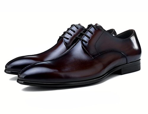 5 Zapatos Wear Con Solo Británico Primavera Tamaño De Formal Estilo Cuero Business Eu44 Male Para Cafe uk8 Color Punta Clásicos Piel Hombre rqgpvr1x