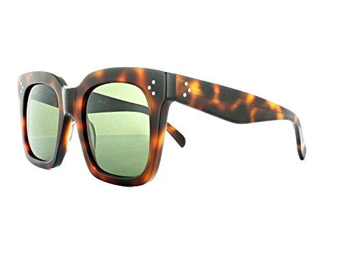 Celine 41076/S Sunglass-005L Havana (1E Green - Celine Sunglasses Tortoise