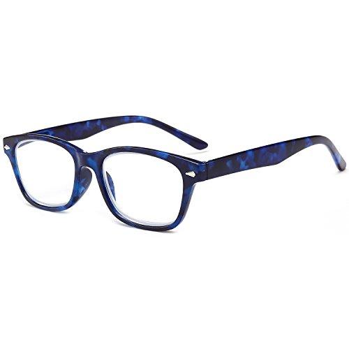 Azul de 1 2 Graduadas Carey Gafas Grande Bisagras 5 Vista 0 Retro con Mujer 0 de 5 Leer Hombre 3 VEVESMUNDO 1 Presbicia Lectura Turquesa Resorte Rectangulares Azul 0 2 0 3 4 5 Leopardo BTdwHvdqSn