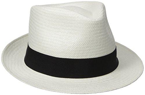 Henschel Men's Panama Straw Trilby Fedora with 2
