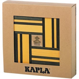 Kapla Yellow/Green Dual Colour Set with Free Design Book by Kapla