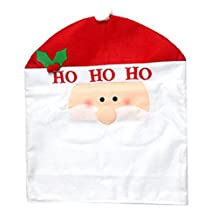Merry Christmas Decorations Dining Chair Seat Back Slipcover Chair Covers A