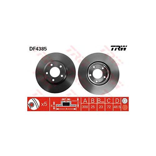 Genuine TRW Vented Brake Discs - Part Number DF4385: