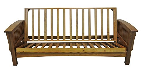 Gold Bond AOCRC + BOQC Manhattan Cherry Oak Futon Frame, Queen, (Cherry Queen Futon)