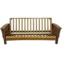 Gold Bond AOCRC + BOFC Manhattan Cherry Oak Futon Frame, Full, Brown