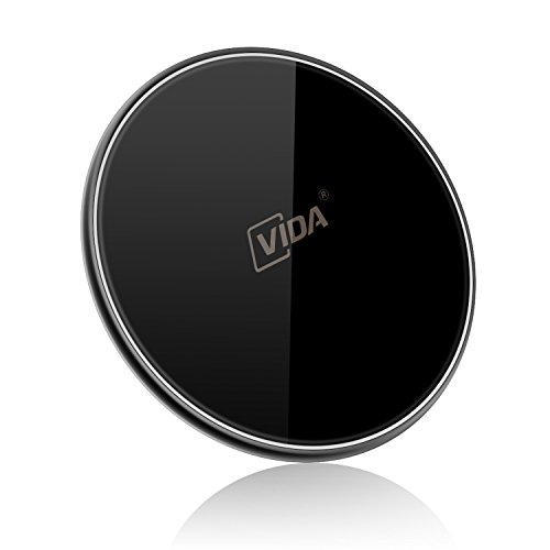 Wireless Charger, CVIDA 7.5W Qi Wireless Charging Pad for iPhone X/ 8/8 Plus, 10W Fast Wireless Charger for Galaxy S9/S9 Plus/Note 8/ S8/S8 Plus/S7, 5W for Nexus 4/5/6/7 and All Qi Enabled Phones