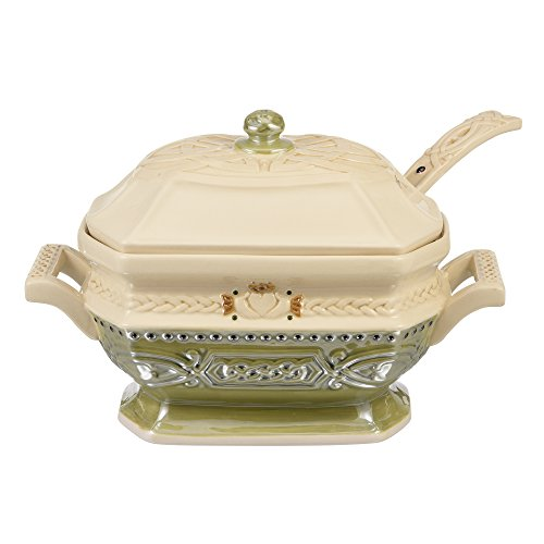 Grasslands Road 473072 Celtic Ceramic Gift Boxed Tureen with Lid and Ladle, 11