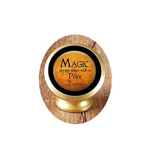 Halloween Costume Jewelry-Magic Always Comes a Price Dearie-Rumpelstiltskin Quote-Once Upon a Time-Magic Spell Magnetic Car Phone Mount Holder -
