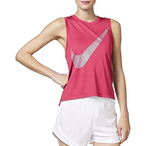 - Nike Womens Dry Metallic Running Tank Top Pink XL