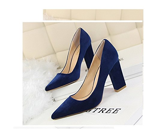 zapatos altos XiaoGao Tacones Royal Blue altos Tacones cm super tacones 10 6w6YH8q