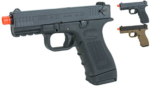 Evike We-Tech ISSC Licensed M-22 Airsoft GBB Gas Blowback Pistol - Black (CO2 Mag) - (45330)