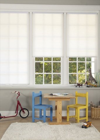 Cordless Light Filter Pleated Shade,  White,  32W x 64L