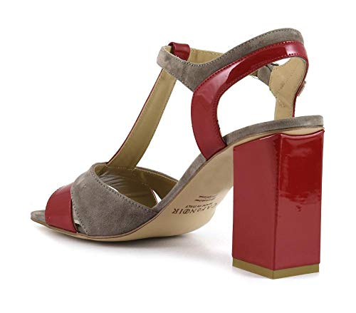 Spiseoplevelse Ty Noir 324 Model Sandal Mle524 Ruskind Multirosso Patent E17 FFw6q7r1a