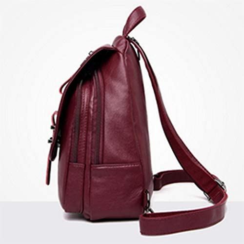 Fashion backpack female new Korean version of the small backpack outdoor waterproof soft leather wild multi-function backpack