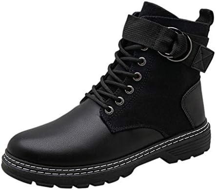 マーティンブーツ 防水 防寒 裏起毛 かわいい 大きいサイズ プーツ メンズ 防水 サイドジッパー 防滑 厚底 雪 ブーツ マーティンブーツ メンズ かっこいい アウドドア 靴 メンズ 革靴 カジュアル