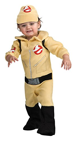 [UHC Boy's Ghostbusters Movie Character Infant Toddler Halloween Costume, 1-2T] (Ghost Baby Halloween Costume)