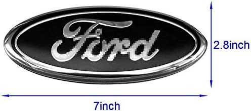 Black YOJOHUA 7 Inch Front Grille Tailgate Emblem for Ford 3D Oval Adhesive Badge for Ford Escape Excursion Expedition Ranger Freestyle Freestyle Five Hundred F-150 F-250 F350 F450 F550
