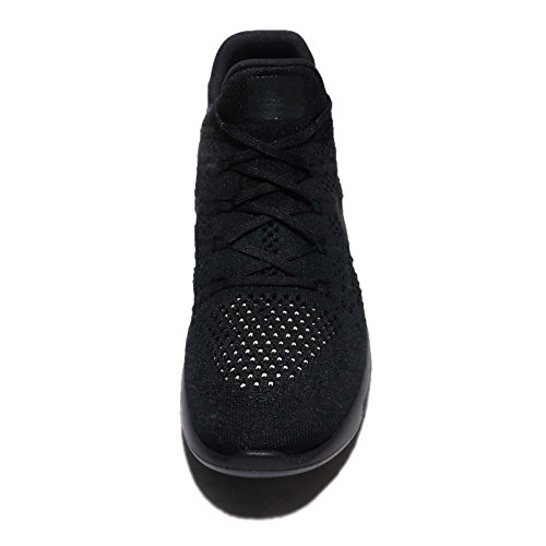 Nike Hommes Lunarepic Low Flyknit 2, Noir / Noir-racer Bleu Noir / Noir-racer Bleu