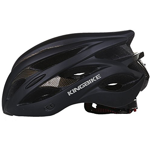 KINGBIKE Adult Bike Helmet, with Helmet Rain Cowl/ Detachable Visor/ Safety Rear Led Light / Lightweight – DiZiSports Store