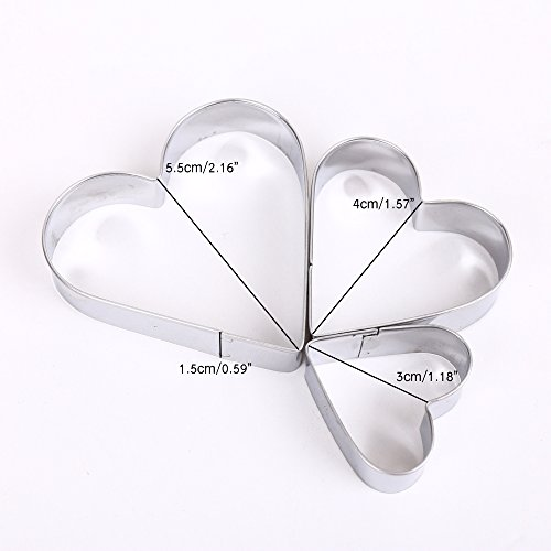 Cookie Cutter Panniuzhe 12PCS Stainless Steel Christmas Cookie Cutters, Star Hearts Round Flower Shape Moulds, Cake Pastry Icing Biscuit Cutters