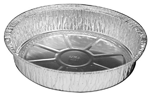9'' Round Aluminum Foil Take-Out Pan 500 Bulk Pack - Disposable Tin Containers by Osislon Series