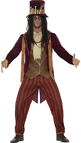 Deluxe Voodoo Witch Doctor Costume Red Large Chest 42