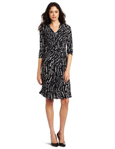 Jones New York Women's 3/4 Sleeve Dress