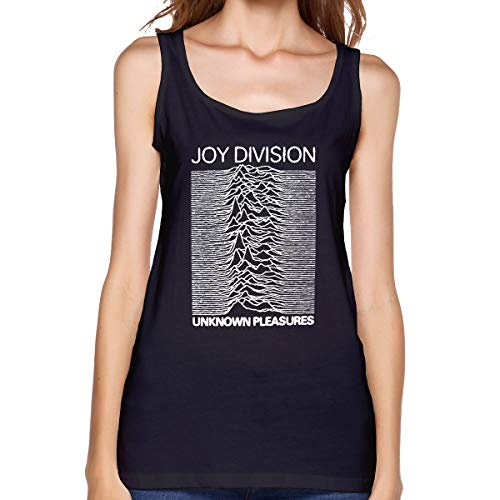 Winsle Womens Summer Tank Tops T-Shirt Joy-Division-Unknown-Pleasures Casual Ladies Sleeveless Blouse Black