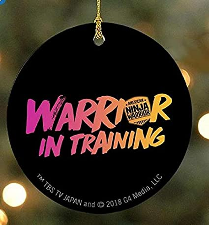 American Ninja Warrior Warrior in Training Ornament-Black/Pink-Double-Sided