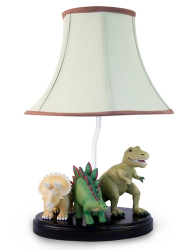 Bright Lights Dinosaur Table Lamp - Fantastic Hand Painted Details by Bright Lights