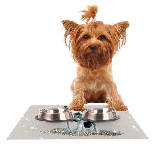 Kess InHouse Monika Strigel Wolf  Feeding Mat for Pet Bowl, 24 by 15-Inch