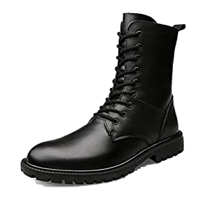 Hanglin Trade Fashion Ankle Boots Winter men's Motorcycle Martin Boots men sneaker men Shoes plus size(Black?Fabric lined) 39/8 B(M) US Women/6 D(M) US Men
