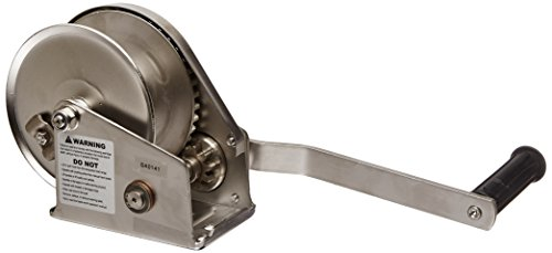 Wire Rope Lifting - Oz Lifting OZ1000BWSS Wire Rope Brake Winch, 1000 lb Capacity, Stainless Steel