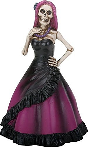 YTC Summit International Day of the Dead Lady Skeleton in Purple Dress Figurine Dia de Los Muertos New from YTC Summit International