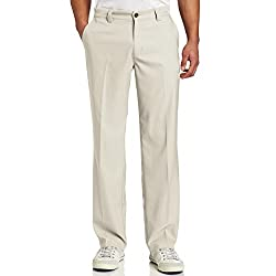 Adidas Golf Men's's Climalite Flat Front Pant, Ecru, 3334-inch