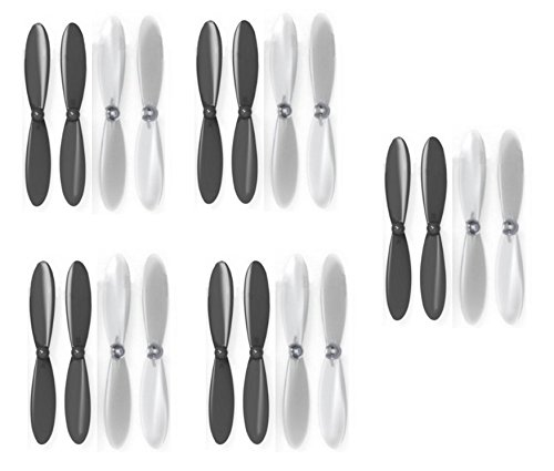 Hubsan X4 H107D+ Plus Black Clear Propeller Blades Props 5x Propellers Transparent - FAST FROM Orlando, Florida USA!
