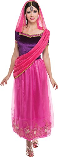 Adult Fancy Dress Costume Party Bollywood Lady Arabian Woman Belly Dancer Outfit -