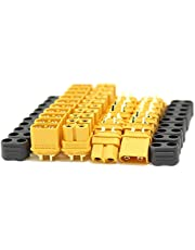 Amass 10 Pair XT60H Bullet Connector Plug Upgrated of XT60 Sheath Female & Male Gold Plated for RC Parts … … …