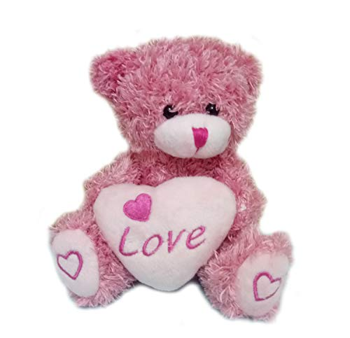 Plush Teddy Bear with Love Heart Stuffed Animal
