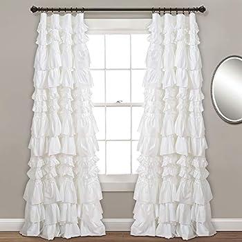 Amazon Com Lush Decor Kemmy Window Curtain Sing Panel 84