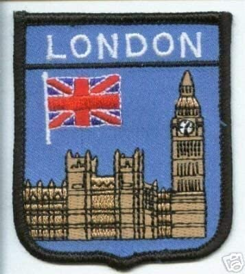 Big Ben London UK Flag  Embroidered Patch