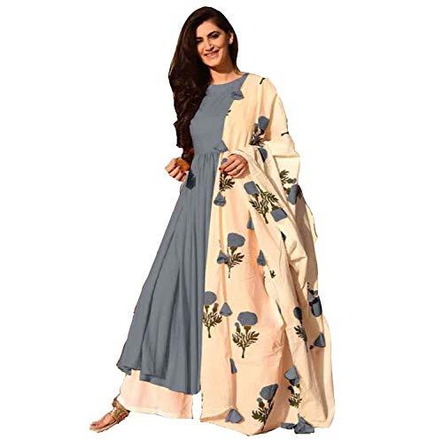 Sathiya Creation Womens Silk Rayon Kurta With Plazzo Greyxx Large - Satiya-house-refurbished-to-accommodate-a-larger-family
