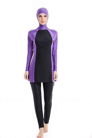 3fdae770e KXCFCYS Modest Muslim Swimwear Islamic Swimsuit Hijab Swimwear Full  Coverage Swimwear Muslim Swimming Beachwear Swim Suit