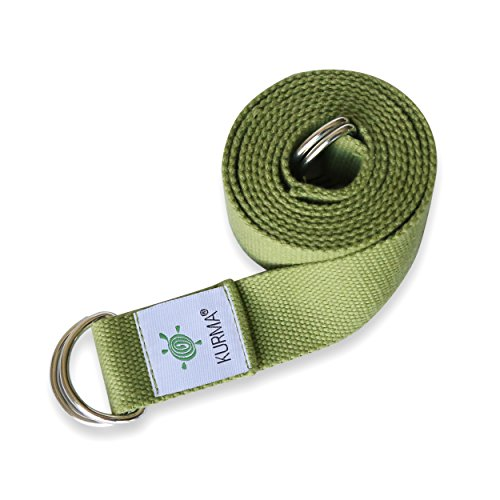 Yoga Belt Strap and Yoga Mat Carrying Sling in one, Cotton, Excellent Grip, Soft, For Stretching and Carrying Yoga Mat