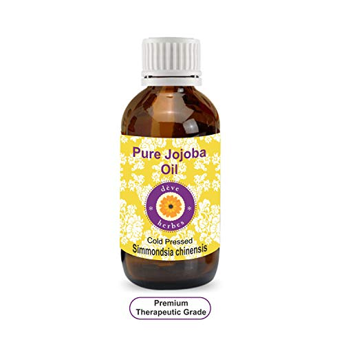 Deve Herbes Pure Jojoba Oil (Simmondsia chinensis) 100% Natural Therapeutic Grade Cold Pressed 5ml (0.16 -