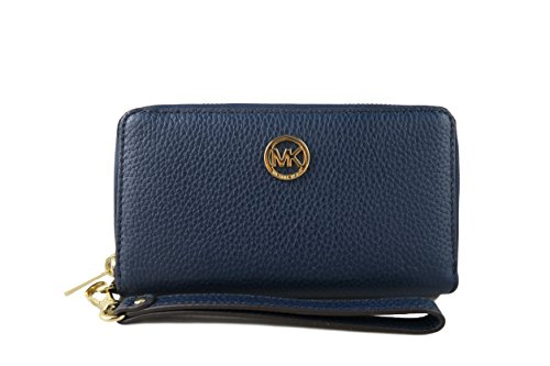 76e45c0bcf3e Michael Kors Fulton Large Flat Multi Function Leather Phone - Import ...