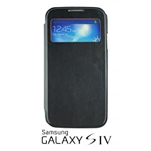 OnlineBestDigital - Flip S View Case Cover for Samsung Galaxy S4 IV I9500 / I9505 - Black