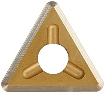 "Dorian Tool TDEX Multilayer Coated Carbide Dovetail Triangle Milling Indexable Insert, 0.0312"" Nose Radius, General Purpose Chip Breaker for Ferrous Metals, 1/4"" Insert, 5/64"" Thick (Pack of 10)"